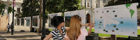 The photo exhibit, New Perspectives: Dominican Republic, was displayed at the Plaza de la Constitucion in Santiago, Chile