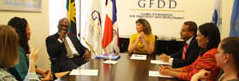 GFDD and FUNGLODE host the Ambassador of Antigua and Barbuda at the Sixth Global Roundtable