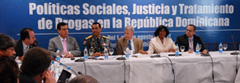 "Workshop on ""Social Policies, Justice and Drug Treatments in the Dominican Republic"""